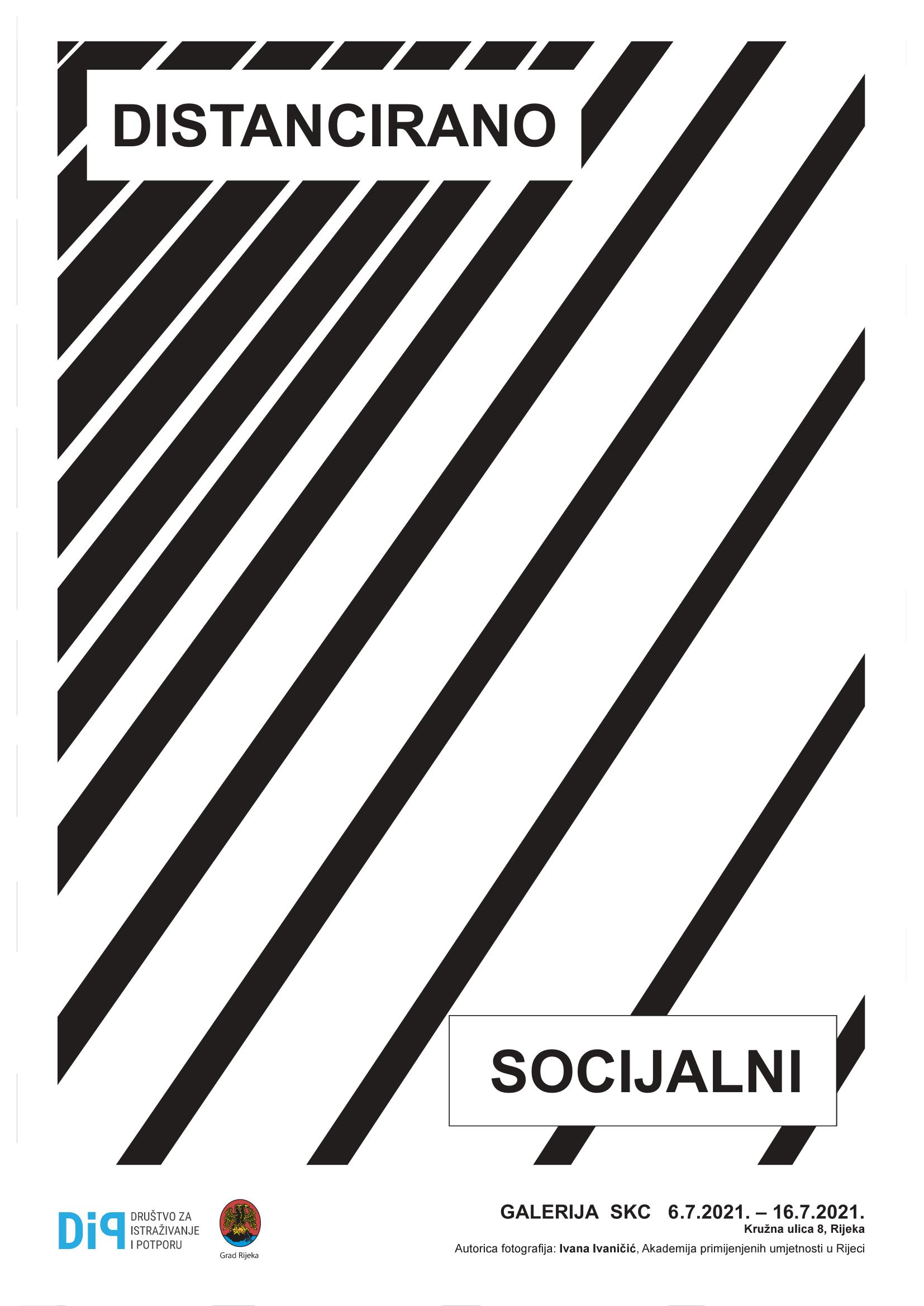 Plakat izložbe Distancirano socijalni